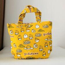 Gudetama EGG YELLOW anime handbag hot lunch box bag storage tote recycle bag