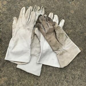 UK British Army Surplus Odd's Aircrew Leather Off White Lightweight Gloves, RAF