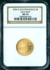 2006 S $5 San Francisco Old Mint Gold Coin NGC MS 70 MS70