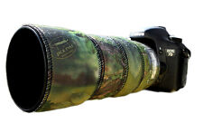 Canon 70 300mm l is néoprène lentille protection camouflage cover: green camo