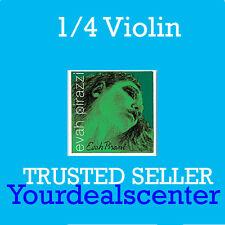 Evah Pirazzi 1/4-1/8 Violin String Set  Steel E Ball
