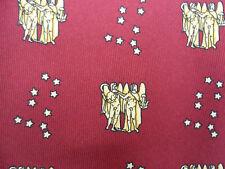 100% Seta Borgogna Cravatta con Zodiaco Oroscopo GEMELLI GEMINI DESIGN NUOVO SENZA ETICHETTA