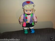 VINTAGE SARAH SHAPES TOYS R US KID GAME PRESCHOOL INTERACTIVE PLUSH DOLL FIGURE