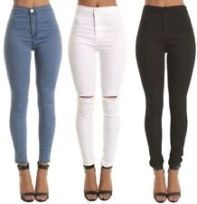 SKINNY SLIM HIGH WAISTED JEANS JEGGINGS WOMENS STRETCHY LONG PANTS M 6 TO 22