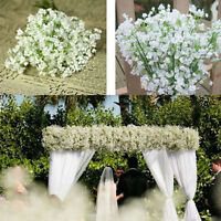 2Pcs Artificial Gypsophila Flower Fake Silk Plant Wedding Party Home Decor Gift