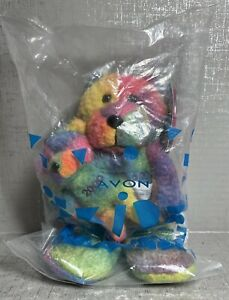 Avon Full O' Beans January Birthstone Tie Dye Bear Rembrandt 2000 New