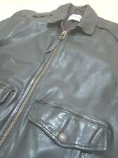 Mens small Leather LEVI  Flying Pilot Bomber jacket