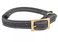 Rolled Leather Dog Collar - XL - Gray - Boots & Barkley™
