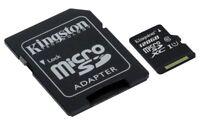 Kingston SDCS MicroSD 16GB 32GB 64GB 128GB velocidades 10 de hasta 80M/s lectura
