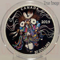 2019 - Powwow Fancy Dance - $30 2 OZ Pure Silver Coloured Coin - Canada