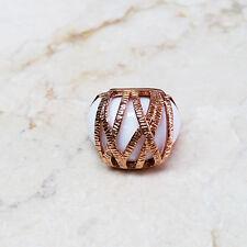 Melania Trump Rosetone Textured Wrap Design Ring Size 7 QVC