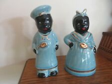Old Mammy and Pappy Salt & Pepper Shakers Blue
