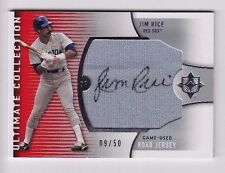2008 Ultimate Collection Jim Rice Jumbo Game Used Road Jersey Auto (09/50)