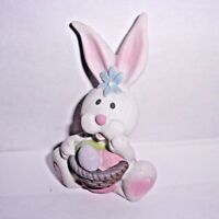 "Latex rabbit mold plaster cement mold 4"" H x 2.5"" W"
