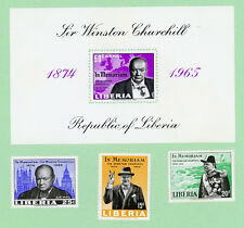 Liberia 3 stamps + SS,  SC 432 - 433, C170, C171, Churchill Memorial, 1966, MPH