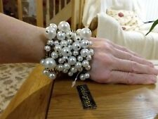 Brand new huge antique gold styled bangle with load of pearls by design six
