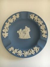 Wedgwood Jasperware Blue ROUND TRINKET ASHTRAY Dish Weeping Angel