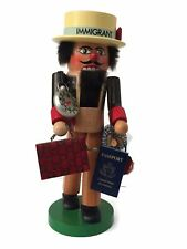 """Steinbach Collectible Nutcracker """"Immigrant"""" Made in West Germany"""