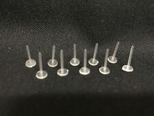 Flat Head Nose Ear Studs Stud Retainers Clear - Transparent - White 10 15 20 Pcs