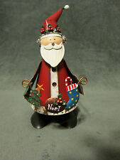 Russ A Season to Remember Bobbling Figurine Metal Santa Noel Handpainted NIB
