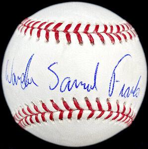 WANDER FRANCO SIGNED TAMPA BAY RAYS OFFICIAL MLB BASEBALL FULL NAME PSA/DNA