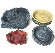 Crawler Feeder Bowl Food Water Basin Pot For Reptile Tortoise Feeding Supplies