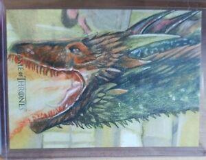 Game of Thrones Iron Anniversary 1/1 DRAGON SketchaFEX Sketch Card Westley Smith