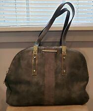 Steve Madden Handbag Gray With Gold Hardware 3 Main Pockets Zip