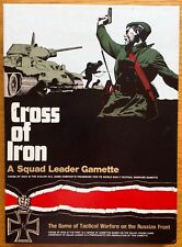 Cross Of Iron Third Edition (Squad Leader exp.) Avalon Hill 1980 - 98% UNPUNCHED