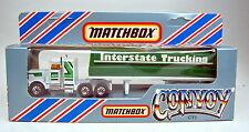 "Matchbox Convoy CY5 Peterbilt Covered Truck ""Interstate Trucking"" top in Box"