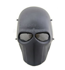 New Tactical Airsoft Paintball Cosplay Outdoor Full Face Protective Mask Black
