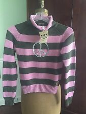 I PINCO PALINO 1950 Italy GIRL'S SWEATER SIZE 12 PINK PEACE - EUC!
