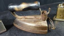 ANTIQUE ELECTRIC BRASS CLOTHING IRON with Trivet  by Jas Smart LTD. Canada