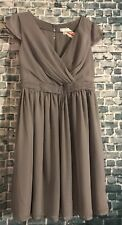 Tevolio Gray Chiffon Dress Size 8 New