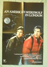AMERICAN WEREWOLF IN LONDON ~VIDEOCASSETTE/VHS RELEASE POSTER 36x24~VINTAGE/RARE