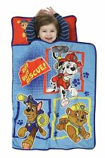 Paw Patrol Toddler Nap Mat Blue With Attached Blanket and Pillow Free Shipping!!
