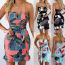Boho Women's Bodycon Wrap Dress Holiday Sleeveless Beach Evening Party Clubwear