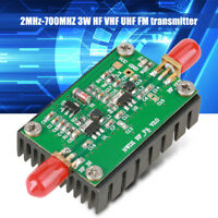 2MHz-700MHZ 3W HF VHF UHF FM Transmitter RF Power Amplifier For Radio BTD
