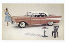 1957 CHEVROLET BEL AIR SPORT SEDAN - Original Ad Postcard
