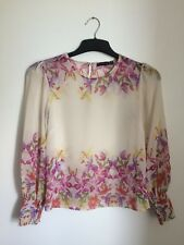 Women's Gorgeous Floral Cream Split Black Floaty Top By Atmosphere UK Size 10