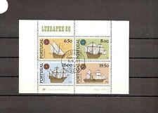 Portugal 1980 SG1815 MS NH/CTO Ships-Caravel/Nau/ etc Portugal-Brazil Stamp Exhi