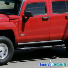 "2006-2010 Hummer H3 3"" S/S Side Step Rails Nerf Bars Running Board Black"