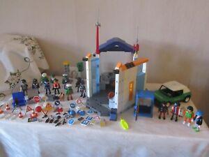 Playmobil- Konvolut 4, Polizei, Polizeizentrale, Auto, Banditen, Ampeln, Tresor