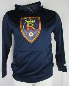 Real Salt Lake adidas Climawarm Pullover Hoodie Men's Navy MLS Large