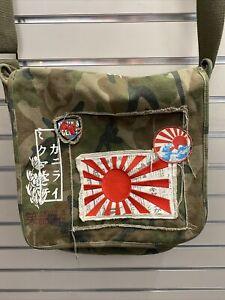 DAVID & GOLIATH CANVAS MESSENGER BAG Camo. Rising Sun, Japanese Flag