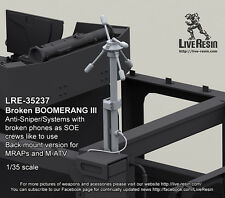 Live Resin 1/35 Broken Boomerang III Anti-Sniper/Systems with Broken Phones