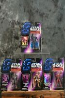 1996 Kenner Star Wars SHADOWS OF THE EMPIRE FIGURE LOT OF 4 Luke Leia Chewbacca