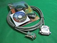 10 ft Fanuc RS232 Serial Cable DB9F to DB25M CNC DNC for PC and Laptop Kit.