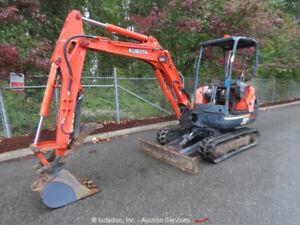 2004 Kubota KX91-3 Hydraulic Mini Excavator Hyd Thumb Backfill Blade Q/C bidadoo