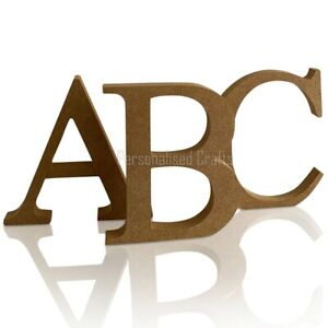 Free Standing Wooden MDF TIMES NEW ROMAN Font Letters 18mm Thick 4 Sizes